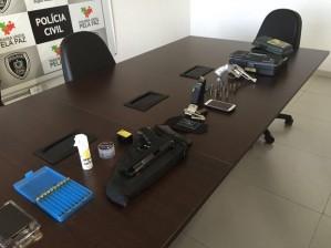 armas encontradas com marido